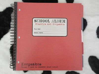 Lote school album scrapbook smash book + alfabetos + die cuts Karen Foster 30x30