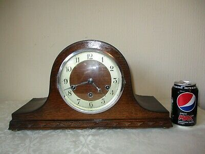 Vintage Westminster Chiming Napoleon Hat Mantle Clock ( Working )