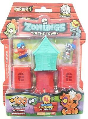 Zomlings in the Town Series 1 with Ultra Rare Deep Blister Tower Pack
