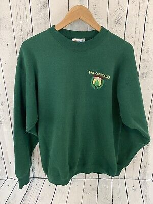 3707bf0e VTG VAIL SKI RESORT COLORADO Crew Neck Sweatshirt Green Hanes 50/50 Large  USA