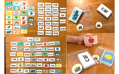 50 First Words Pictures Flash Cards Learning To Read Early Learning Resource Sen