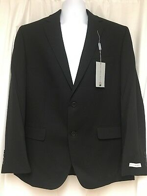NEW Mens Geoffrey Beene sport coat blazer suit jacket 46R BLACK $200