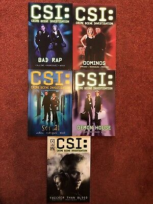 5 CSI Crime Scene Investigation graphic novel comics IDW titan SIGNED murder