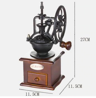 HOT Manual Coffee Grinder Antique Cast Iron Hand Crank Coffee Mill With Grind