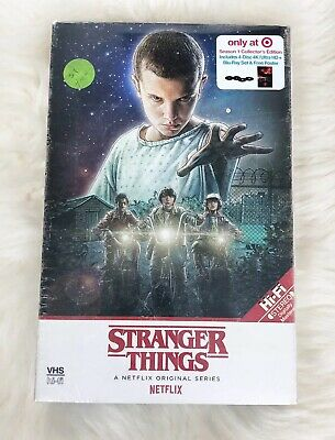 Stranger Things Season 1 Target Collectors Edition (4k Ultra HD,Blu-Ray,+Poster)