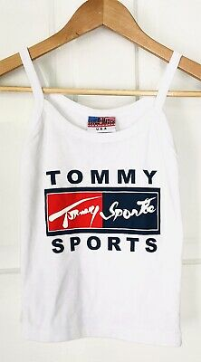 bae7b5c16 Women's Small Tommy Hilfiger Spell Out Flag Tommy Sport Crop Top Tank  BOOTLEG
