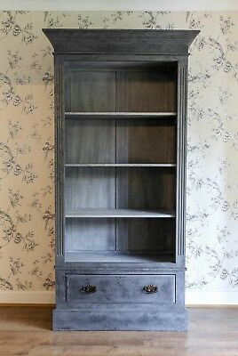 Gorgeous Grey Armoire Cupboard Kitchen Storage Display Cabinet Drawer Furniture