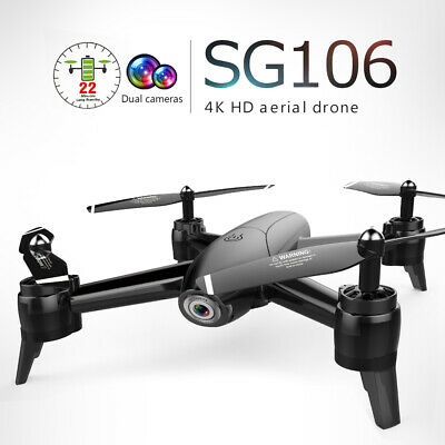 SG106   Wifi GPS FPV Drone with 4K Camera Foldable RC Quadcopter Drone 1080P