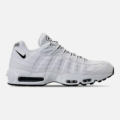 sale retailer 8fce7 f57bf Authentique Nike Air Max 95 Blanches Noires 609048 109 Hommes Taille