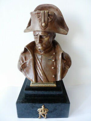 NAPOLEON 19th Century Amazing Bronze Bust Rare By Emile PINEDO (1840-1916)