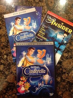Cinderella (DVD,2005,2-Disc,Special Ed,Platinum Collection) Authentic Disney US