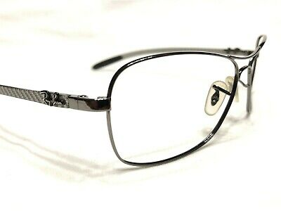 fb41692745310 Ray Ban RB8302 004 40 Men s Gunmetal Carbon Fiber Rx Eyeglasses Frames 58 15