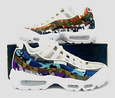 NIKE AIR MAX 95 ERDL Party White Multi Color Camo Print NSW
