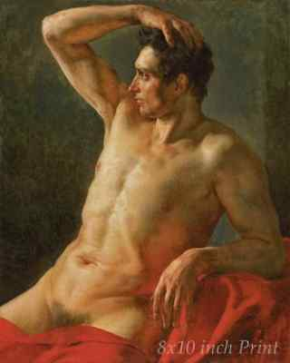 Nude Man by Theodore Gericault Naked Pose  8x10 Print Picture 1678