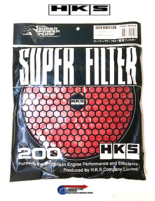 Hks Luftfilter Super Power Flow - 200mm Austauschelement Pilz Rot