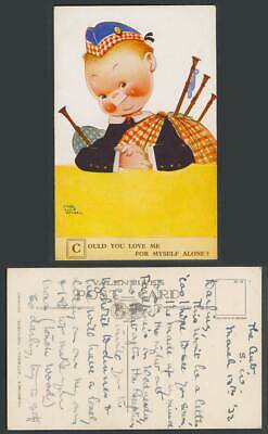 MABEL LUCIE ATTWELL 1932 Old Postcard Scottish Boy Love Me For Myself Alone 2035