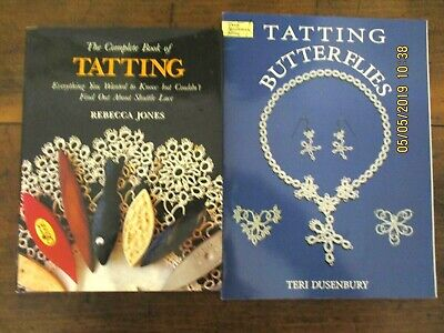 ~The Complete Book Of Tatting & Tatting Butterflies - Vgc~