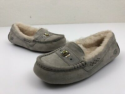 3b912ba23d6 UGG WOMENS ANSLEY Chunky Crystals Shearling Slippers Moccasins Size 6  1007713