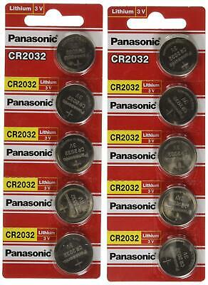 [ 10 pcs ] -- Panasonic Cr2032 3v Lithium Coin Cell Battery Dl2032 Ecr2032 (