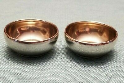 R Wallace & Son Sterling Silver Salt Cellars Set of 2 Marked R W & S 1603