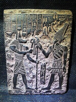 EGYPTIAN ANTIQUE ANTIQUITIES Wepwawet Anubis Seti I Stela Stele 1290-1279 BC