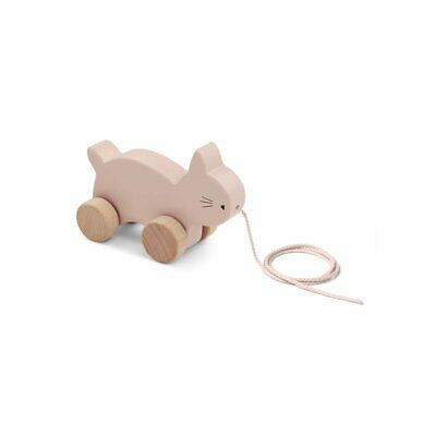 Liewood - Wooden Pull Along Toy Abby - Rose Cat