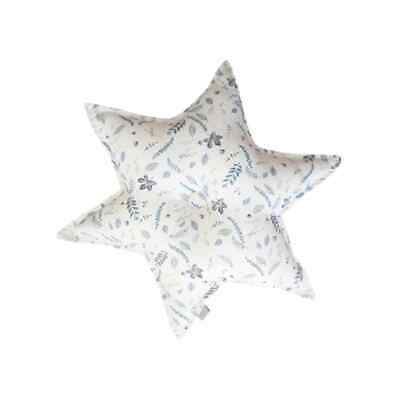 Star Cushion - Pressed Leaves Blue children kids nursery decor pillow toy