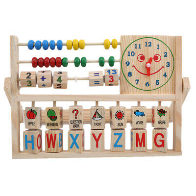 Kids Counting Rack Learning Early Educational Development Wooden Toys FW