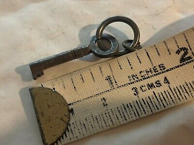 Antique Georgian Victorian Trunk Padlock Cabinet Door Key Lock Clock Caddy