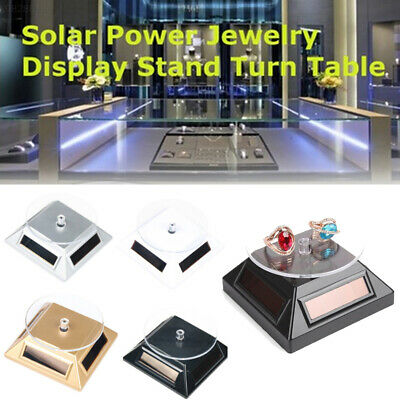 Solar Powered 360 Degree Rotating Display Stand Turntable Showcase Bracelet