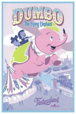 Dumbo - Disneyland Hong Kong - Collector Poster 4 Different Sizes  (B2G1 Free!!)
