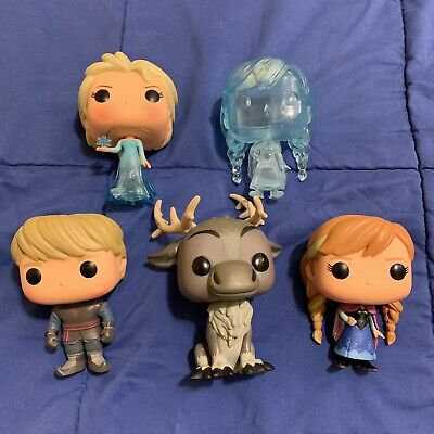 Funko Pop Disney Frozen OUT OF BOX Set Of 5 (SDCC)