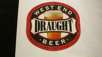 OLD AUSTRALIAN BEER LABEL, SA BREWING Co WEST END DRAUGHT 1980s 375ml