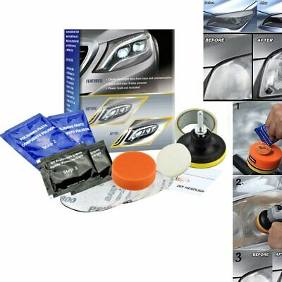 Auto Car Headlight Lens Restoration System Restorer Kit Polishing Clean Tool KA