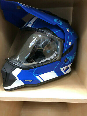 O'Neal Sierra II Helm COMB blue/white - black/red MX Motorradhelm UVP 169,99€