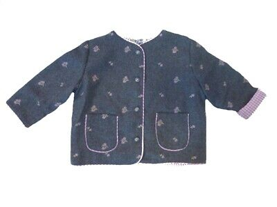 Traditional Costume Jacket Cardigan for Girls Grey Size 68 -