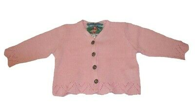 Traditional Costume Girl Cardigan Rosa Size 98 104 110 116 122 128 134 140