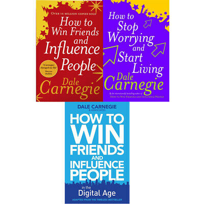 How to Win Friends and How To Stop Worrying 3 books collection set