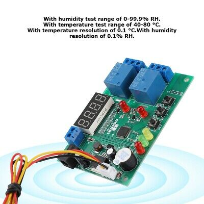 Digital Temperature Humidity Controller Control Thermometer Relay Hygrometer LED