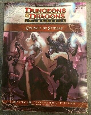 Council of Spiders. Dungeons and Dragons D&D Encounters 4th ed.