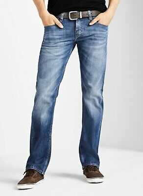 95866a77a19d MUSTANG OREGON STRAIGHT Leg Herren Jeans, W28 -to- W40 / Heavy Used ...