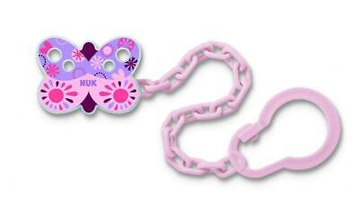 NUK Disney Soother Chain with Clip Winnie Mickey & Shoohter Band BPA Free