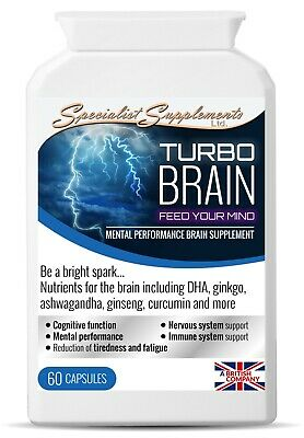 Turbo Brain - Best Natural Brain Supplements for Focus, Memory, & Concentration