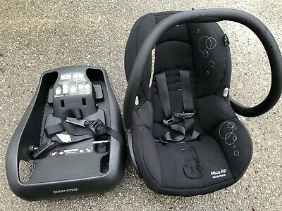 Maxi Cosi Mico AP infant car seat & BASE Exp. 2022 Black Lightweight Air Protect