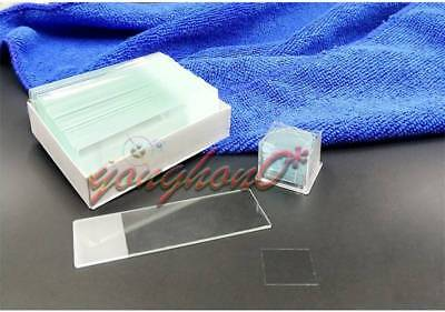 50PCS Blank Microscope Slides with 100PCS Square Cover Glass