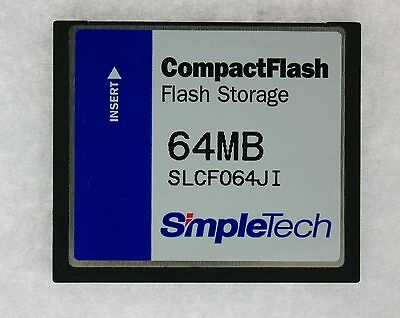 64MB 50pin CF CompactFlash Card Simpletech DRVCF064JI / SLCF064JI TESTED
