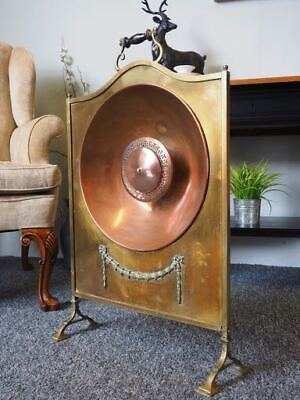 Antique Arts & Crafts Brass & Copper Fire Screen UK DELIVERY AVAILABLE
