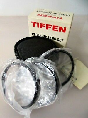 Tiffen Screw In Filter Close-up Lens Set 62mm +1 +2 +4 with Leather Case in Box