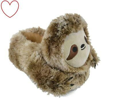 Children's Boys Slippers Sloth Animal 3D Novelty Gift