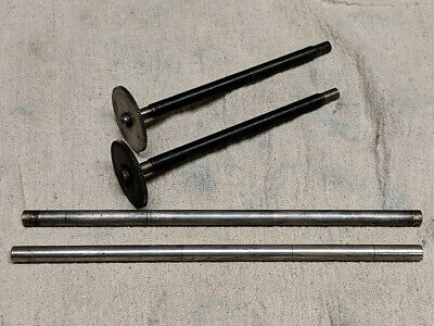 Edison Standard Cylinder Phonograph Carriage Feed Screw Gear Rod -Lot of 4 Items